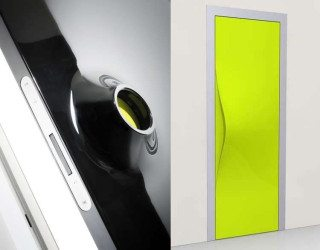 Knob-free Doors from Albed Have Built-in Door Handles