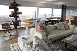 Astounding penthouse apartment overlooking the city of Amsterdam
