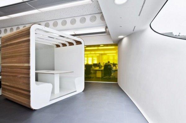 Dentsu london office decoration by essentia designs for Minimalist white house by koichi kimura