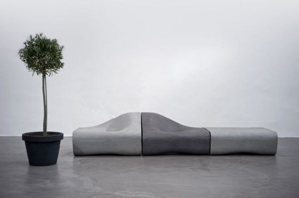 Dune by Rainer Mutsch 1 Modular outdoor seating collection made from cement