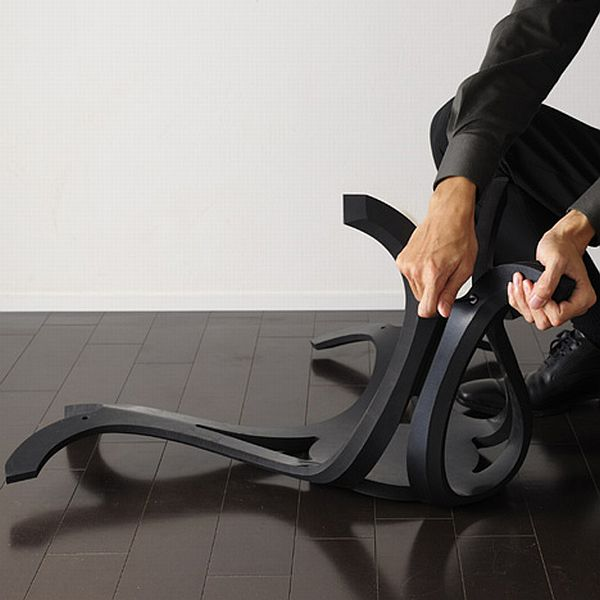 Eco-friendly rubber chair