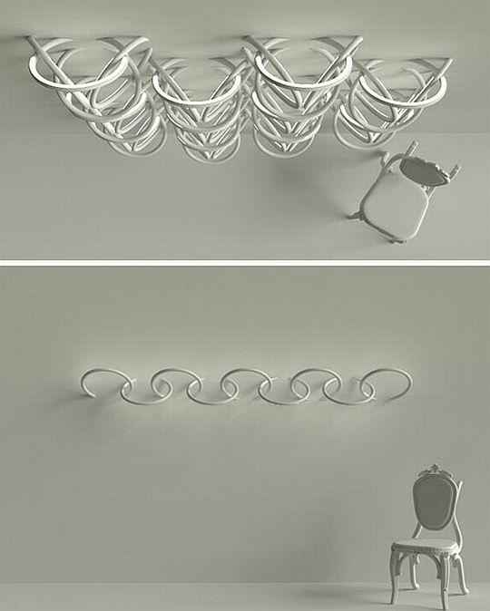 Halo shaped LED Light fixtures 3