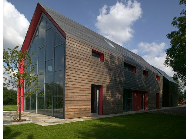 Modern barn house slides for different panoramas for Modern barn design