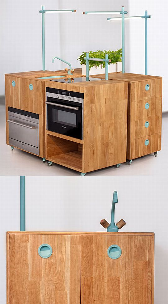 Modern modular recycled kitchen furniture 2