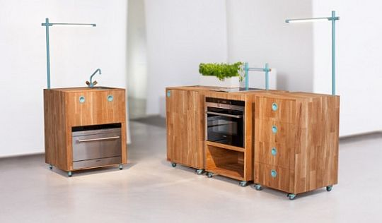 Modern modular recycled kitchen furniture 3