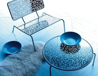 Invigorating Pierced and Upholstered furniture collection from Esedra