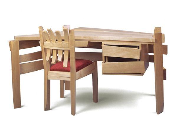 Solid wood desk 2 Solid wood desk artistically created by Nico Yektai
