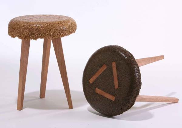 shavings stools 2 Marvelous sustainable furniture made from sawdust and resin
