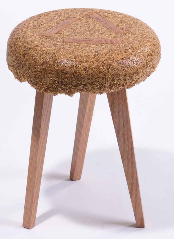 shavings stools 6 Marvelous sustainable furniture made from sawdust and resin