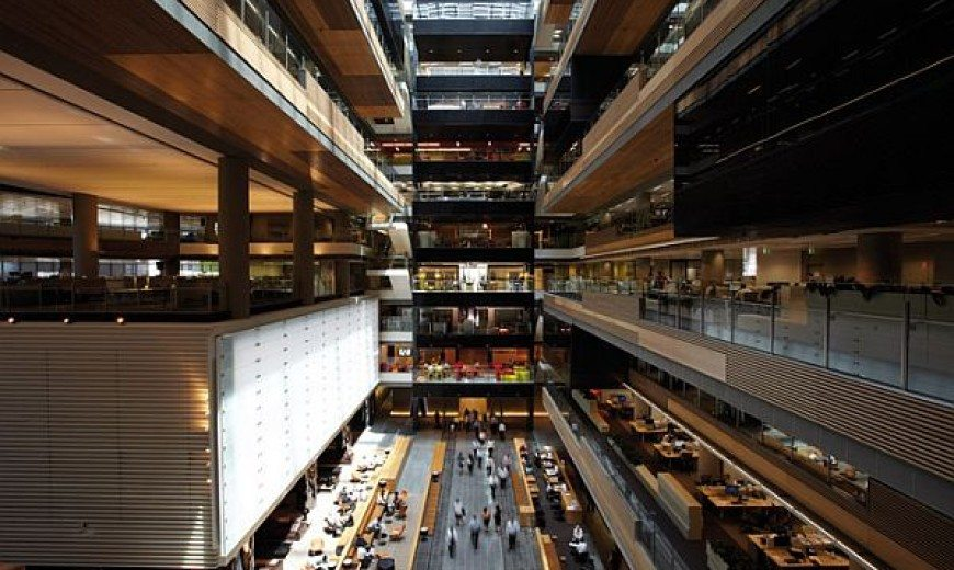 ANZ Centre in Melbourne Looks Like a Massive Urban Campus