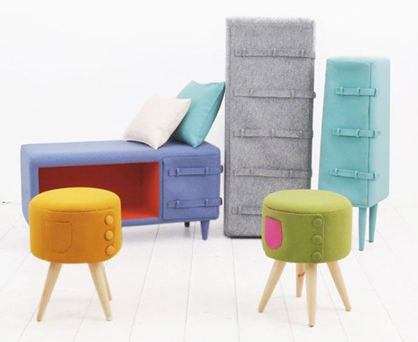 Button Up furniture from Kam Kam 1 Cute and playful Button Up furniture series from Kam Kam