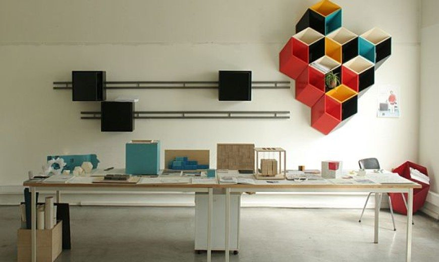 Colourful 3D wall storage that can replace wall art