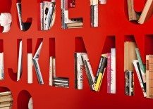 Colourful Room Divider Bookshelf from Lincoln Kayiwa