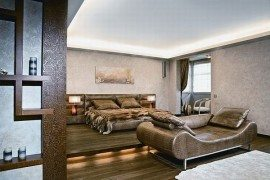 Contemporary apartment with African decorations