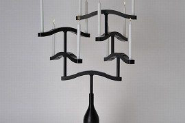 Gothic-inspired Black Candle Holder