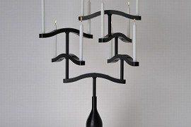 Gothic-inspired Black Candle Holder