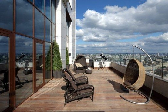 Luxury penthouse apartment Moscow 1 Luxury penthouse apartment overlooking the center of Moscow