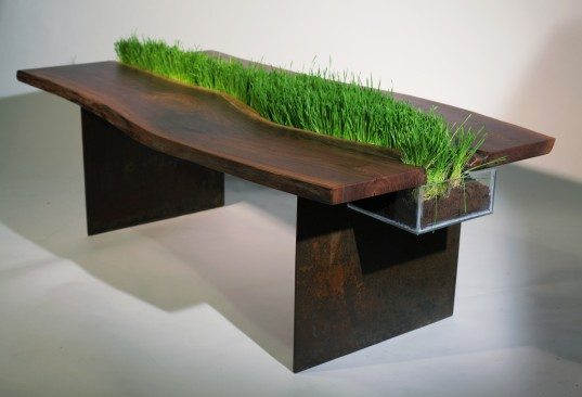 Natural wood dining table 1