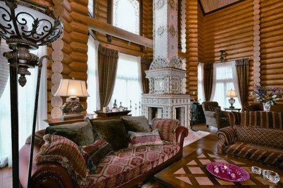 Siberian house noble fairytale home in russia for Fairytale inspired home decor