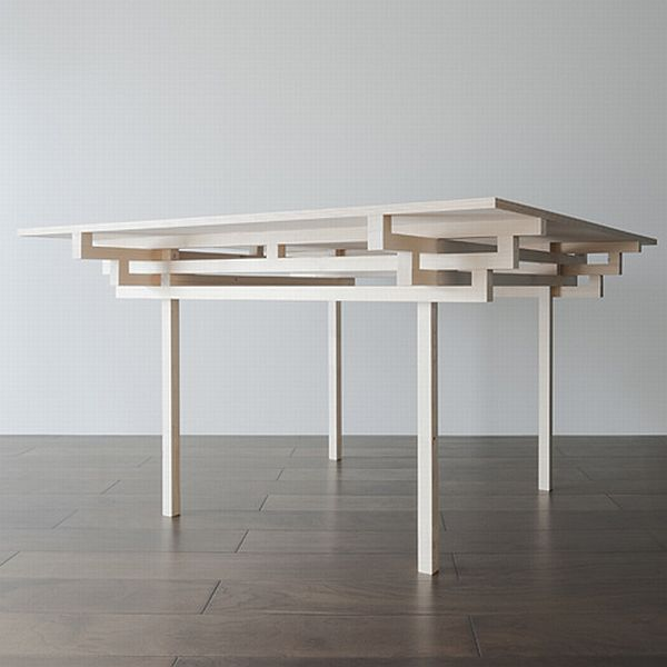 Temple Table by Hiroyuki Tanaka Architects 2 Clean and crisp table design influenced by Japanese architecture
