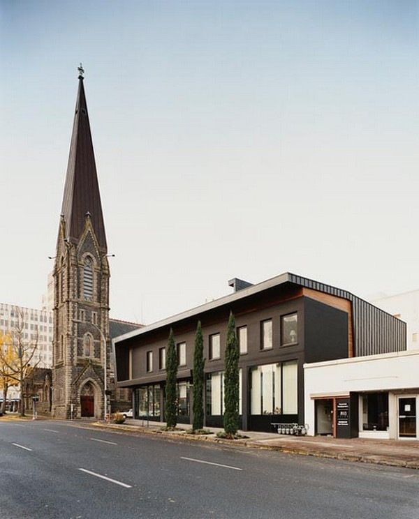 adler 2 Stunning modern home and office inspired by Gothic church