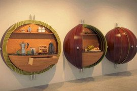 Futuristic Pod Kitchen for Crowded Spaces