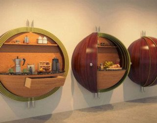 Futuristic Pod Kitchen for Crowded Spaces
