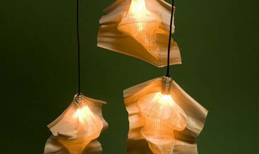 Unique and versatile textile lampshade: the Fabricate Lamp