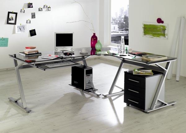 grey glass corner desk decoist