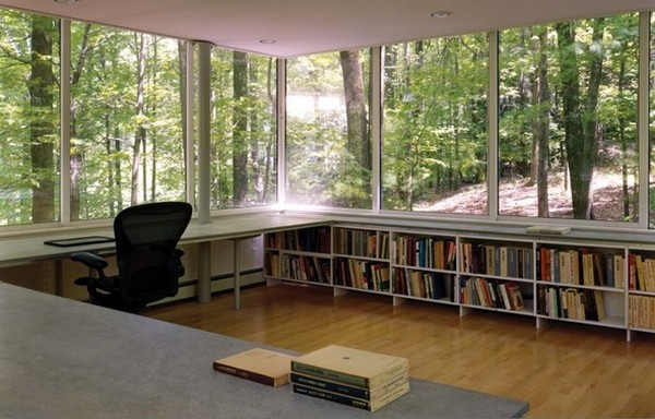 library 10 Minimalist retreat and study cube in the forest