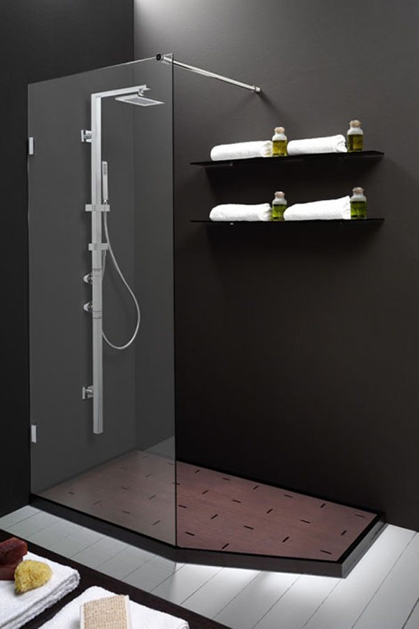 Roman showers for modern bathrooms for Bathroom design 5m2