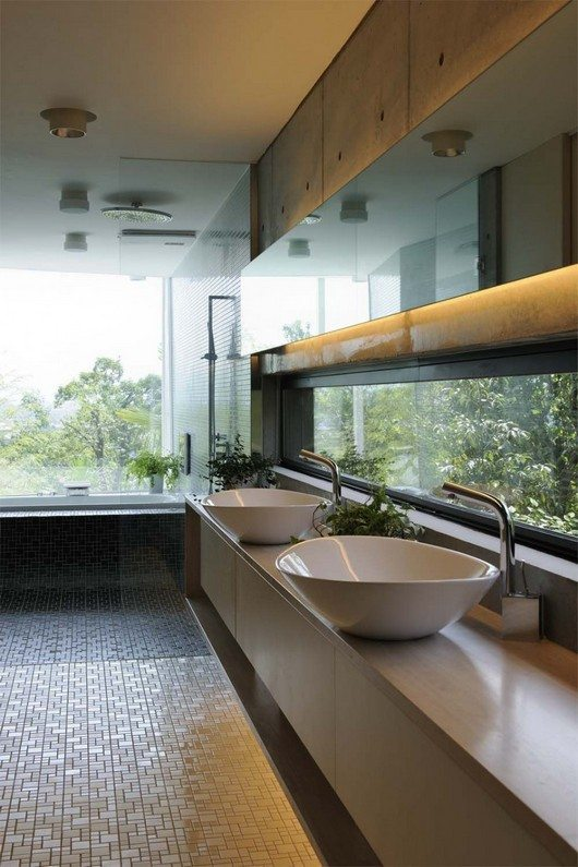 T house in kyoto fascinating space configuration for Bathroom configurations