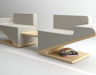Futuristic and stylish convertible sofa