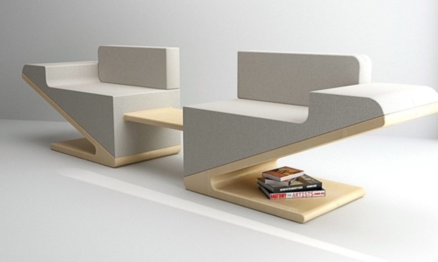 Futuristic and stylish convertible sofa