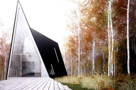 Contemporary A-shaped house hidden in Mountain West (Allandale House: A Cabin of Curiosities)