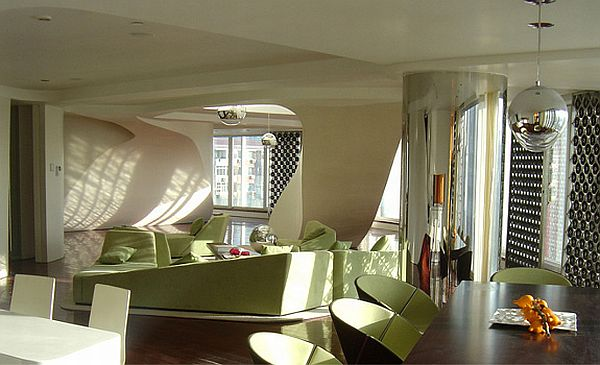 Beijing Chateau interior 1 Undulating walls and bold shades of colour: The Beijing Chateau by Graft