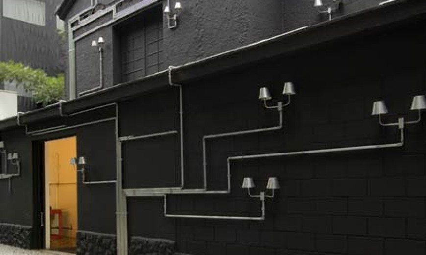 Pipe Light: Lighting installation for outdoors and indoors from Triptyque