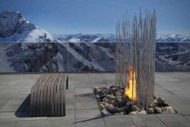 Amazing fireplace design by Elena Colombo
