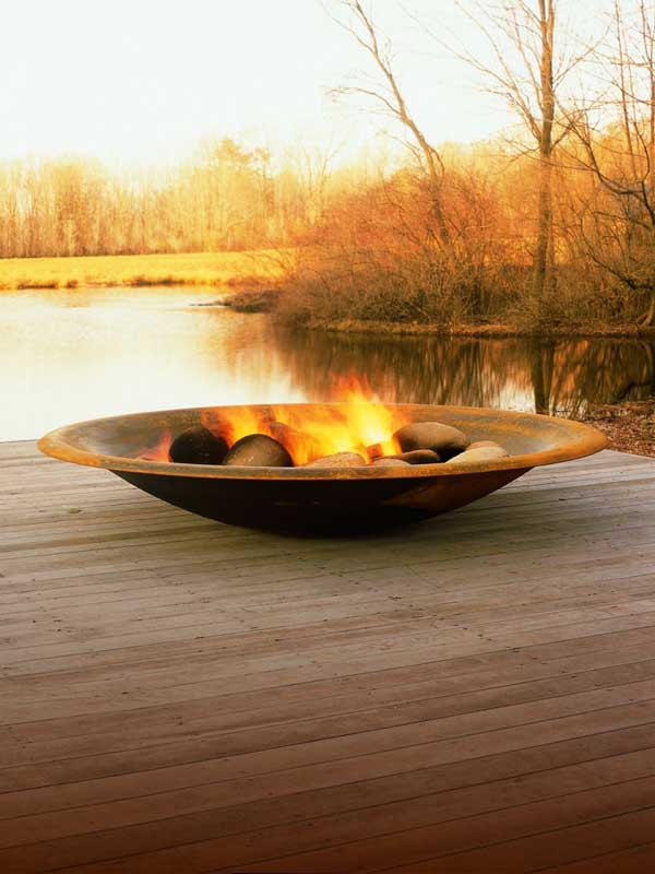 These fantastic fire features are designed site specifically by New ...