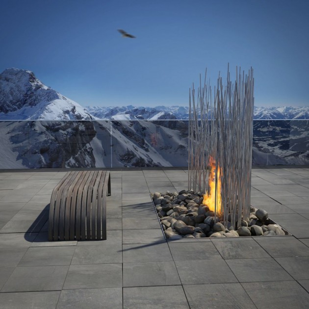 fire1 Amazing fireplace design by Elena Colombo