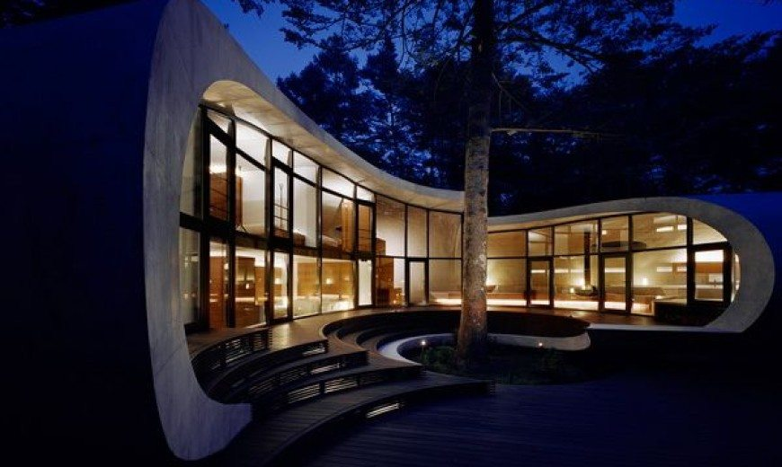 Fantastic futuristic residence in the woods