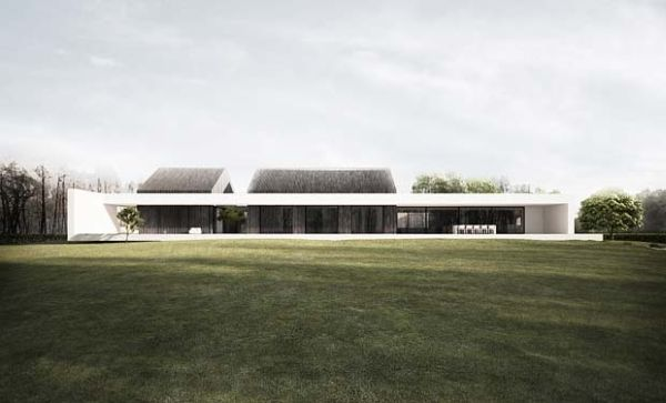 Amazing holiday house concept in poland for Minimalist white house by koichi kimura