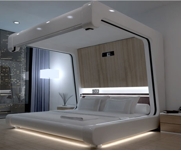 20 modern bed designs that appeal for Cool bed head ideas