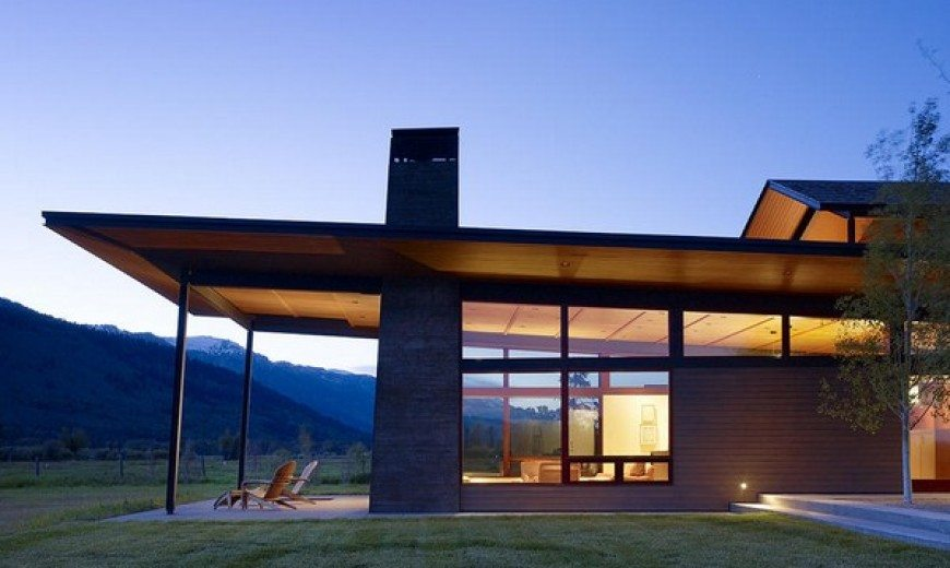 Modern twist to a traditional Wyoming country home