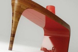 Louboutin-inspired table with surprising elegance (the Stiletto Table)