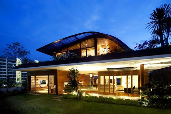 Garden-based modern residence with a wonderful panorama (The Meera ...