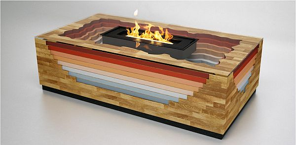 Modern smokeless Terragen fireplace 1 Modern smokeless Terragen fireplace from Flying Cavalries