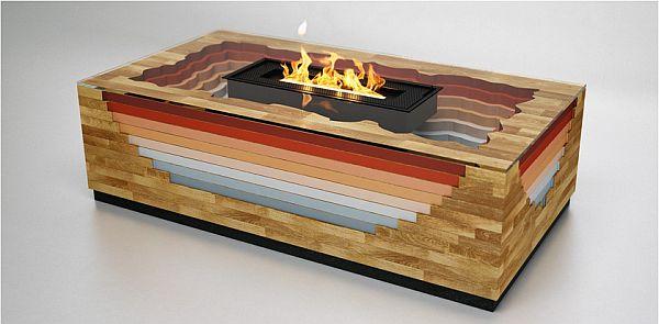 Modern smokeless Terragen fireplace 1