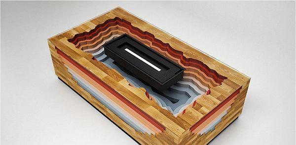 Modern smokeless Terragen fireplace 2