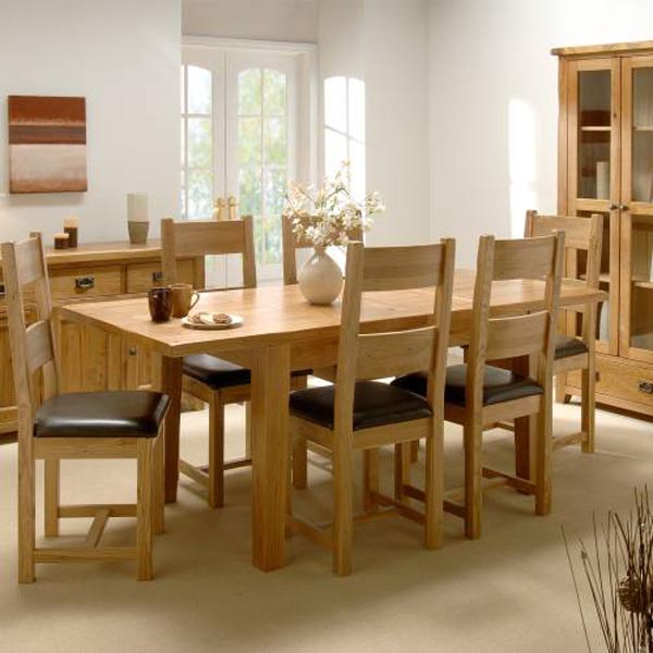 Oak dining room